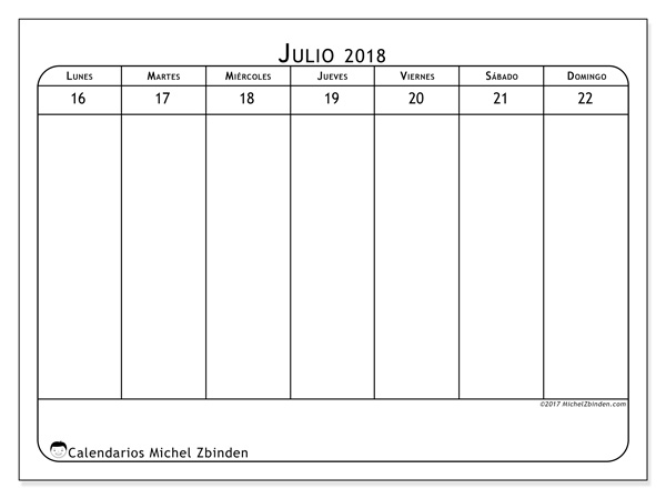 Calendario julio 2018 - Septimanis 3 (cl)