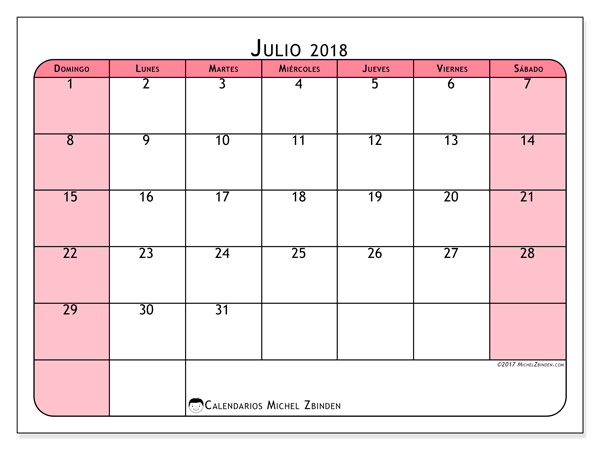 Calendario julio 2018, Severinus