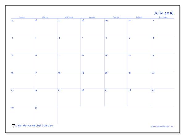Calendario julio 2018, Vitus