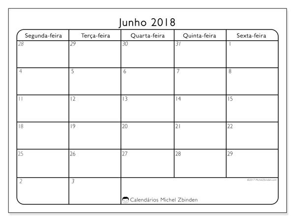 Calendário junho 2018, Egidius