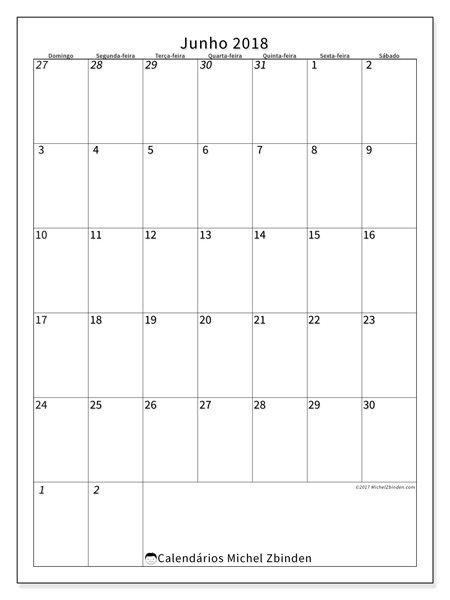 Calendário junho 2018, Regulus