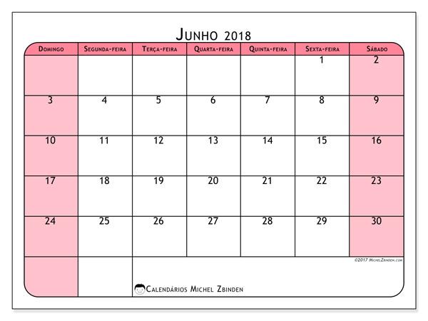 Calendário junho 2018, Severinus