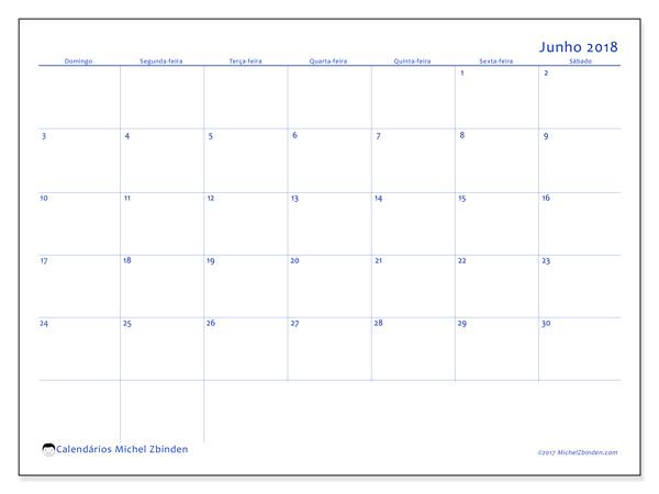 Calendário junho 2018, Ursus