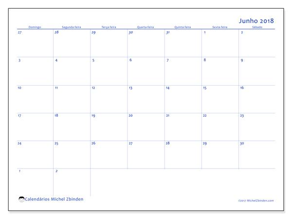 Calendário junho 2018, Vitus