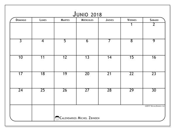 Calendario junio 2018, Marius