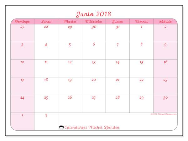 Calendario junio 2018 - Rosea (co)