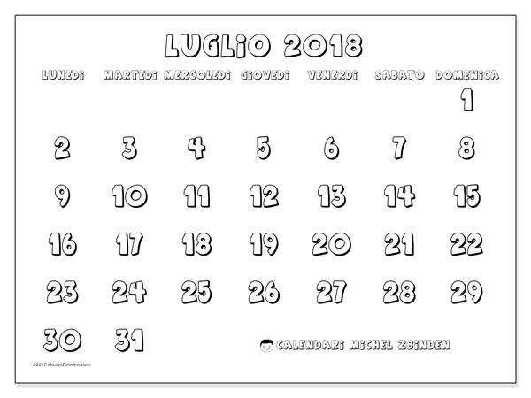 Calendario luglio 2018, Adrianus