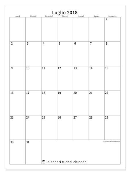 Calendario luglio 2018, Antonius