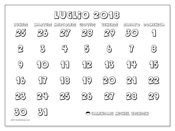 Calendario luglio 2018, Hilarius