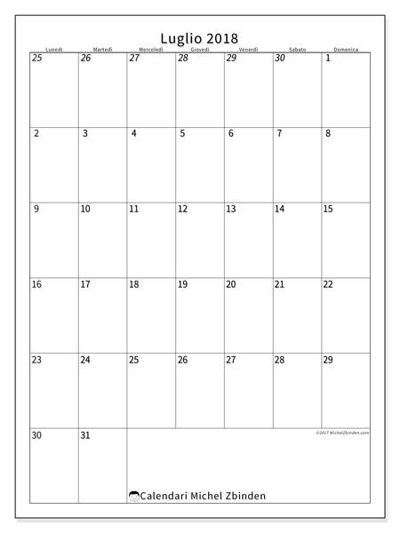 Calendario luglio 2018, Regulus