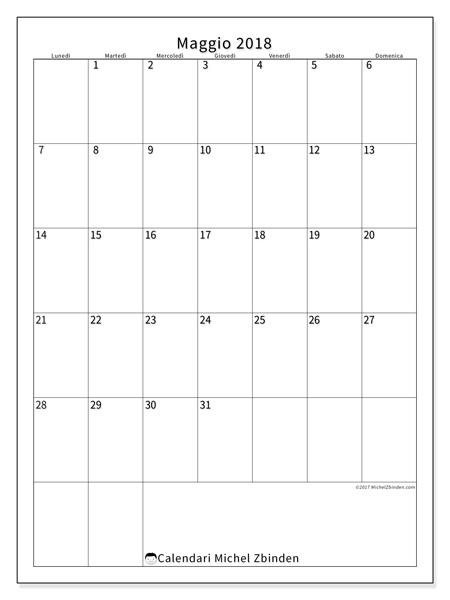 Calendario maggio 2018, Antonius
