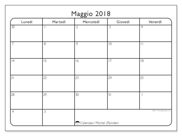 Calendario maggio 2018, Egidius