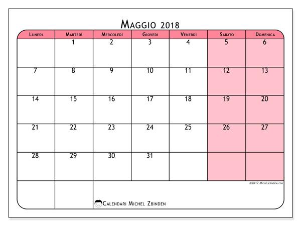 Calendario maggio 2018, Severinus