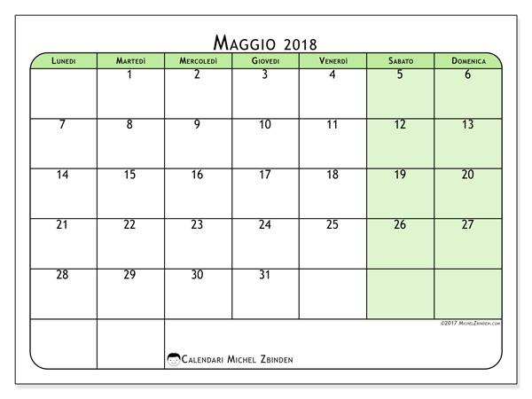 Calendario maggio 2018, Silvanus