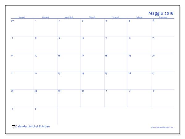 Calendario maggio 2018, Vitus