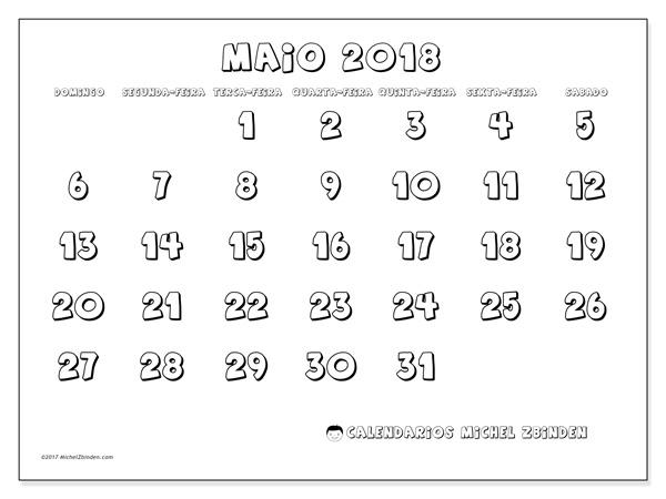 Calendário maio 2018, Adrianus