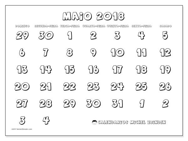 Calendário maio 2018, Hilarius