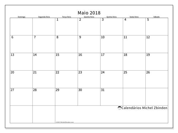 Calendário maio 2018, Horus
