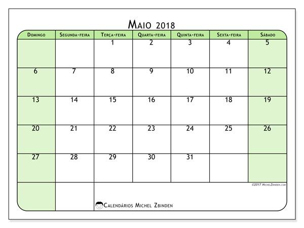 Calendário maio 2018 - Silvanus (br)