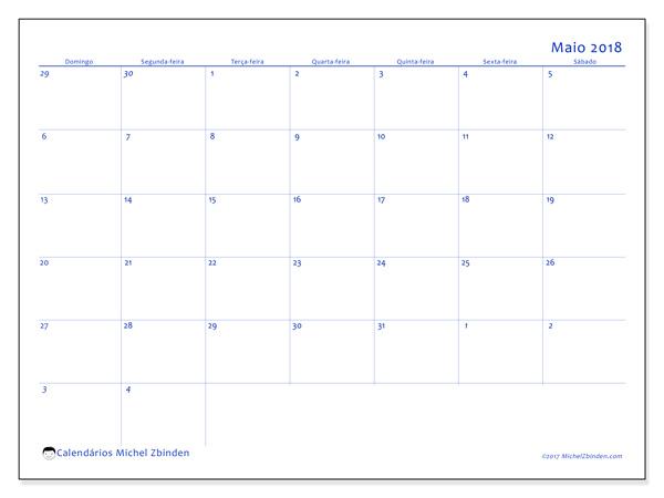 Calendário maio 2018, Vitus