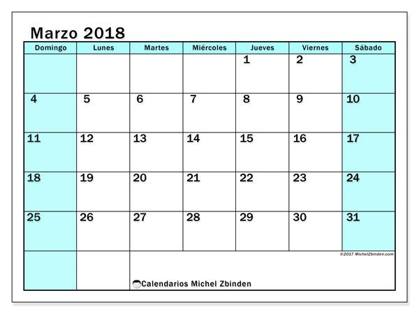 Calendario marzo 2018, Laurentia