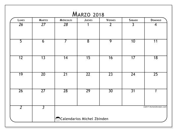 Calendario marzo 2018 - Maximus (cl)