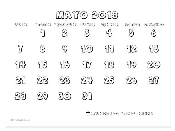 Calendario mayo 2018, Adrianus
