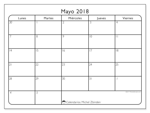 Calendario mayo 2018, Egidius