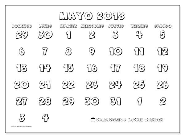 Calendario mayo 2018, Hilarius