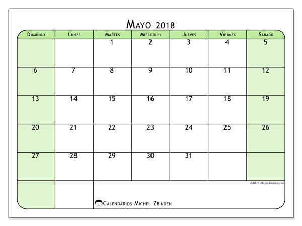 Calendario mayo 2018, Silvanus