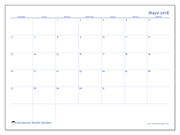 Calendario mayo 2018, Ursus