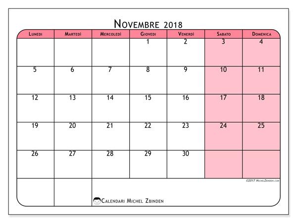 Calendario novembre 2018, Severinus