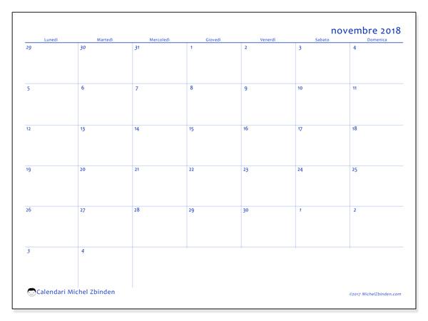 Calendario novembre 2018, Vitus