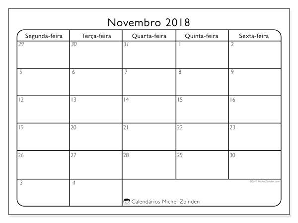 Calendário novembro 2018, Egidius