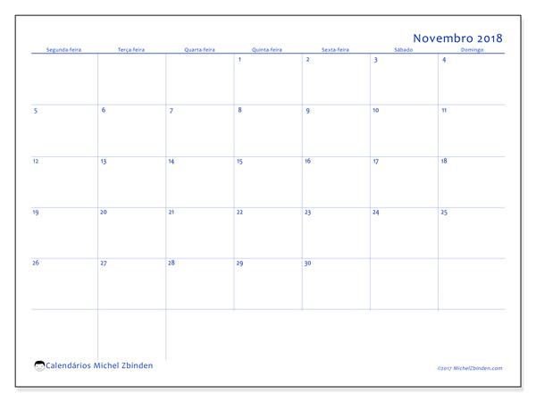 Calendário novembro 2018, Ursus