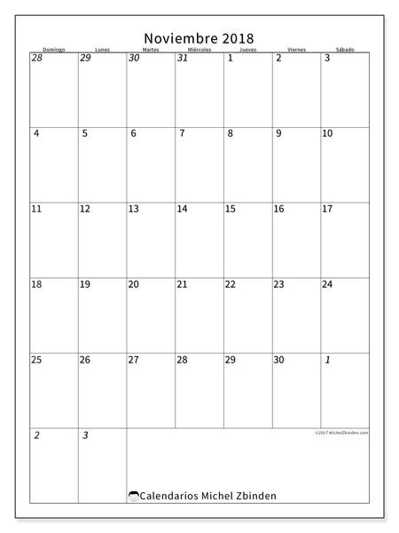 Calendario noviembre 2018, Regulus