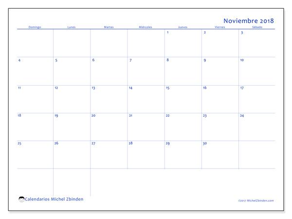 Calendario noviembre 2018, Ursus