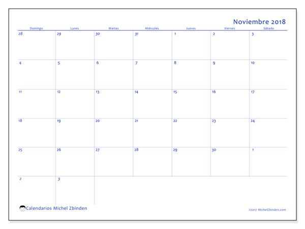 Calendario noviembre 2018, Vitus