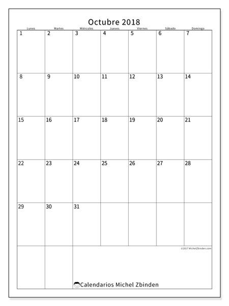 Calendario octubre 2018, Antonius