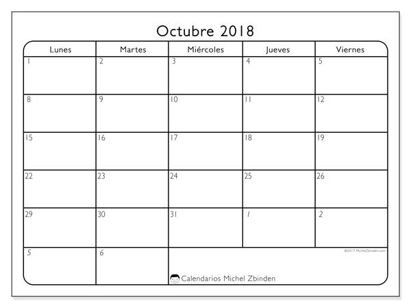 Calendario octubre 2018, Egidius