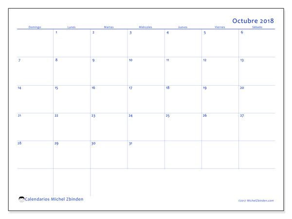 Calendario octubre 2018, Ursus