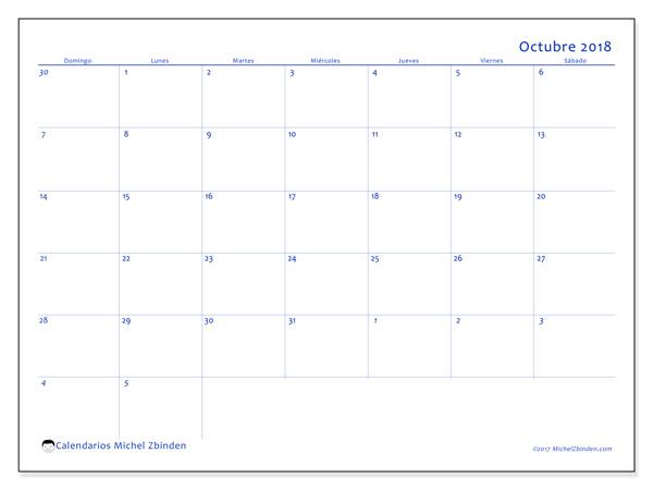 Calendario octubre 2018, Vitus