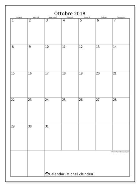 Calendario ottobre 2018, Antonius