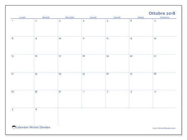 Calendario ottobre 2018, Vitus
