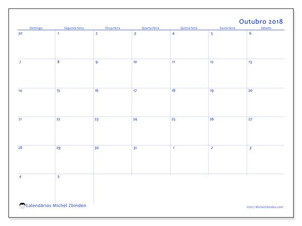 Calendário outubro 2018 - Vitus (br)