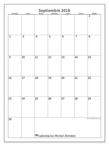 Calendario septiembre 2018, Antonius