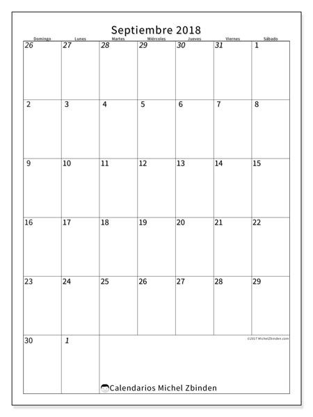 Calendario septiembre 2018, Regulus