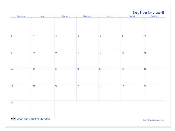 Calendario septiembre 2018, Ursus