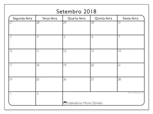 Calendário setembro 2018, Egidius