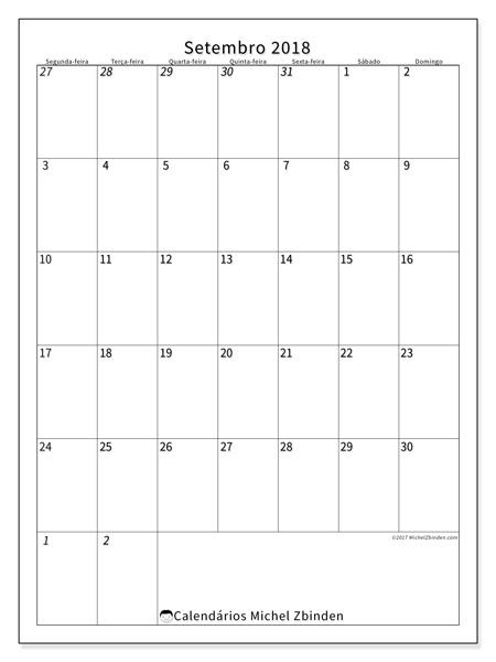 Calendário setembro 2018, Regulus